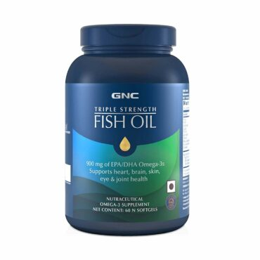 GNC-Triple-Strength-Fish-Oil-900Mg-Omega-3-Supplement-60-Softgels