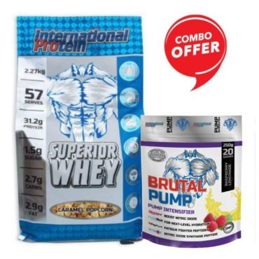 International Protein Superior Whey 5lb + Brutal Pump Pre-Workout 250gm