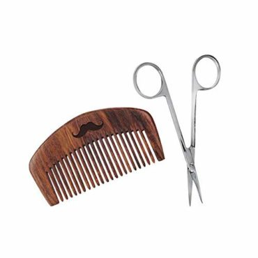 MEN-DESERVE-Sheesham-Wooden-Pocket-Size-Hand-Made-Comb-and-Stainless-Steel-Beard-Scissor