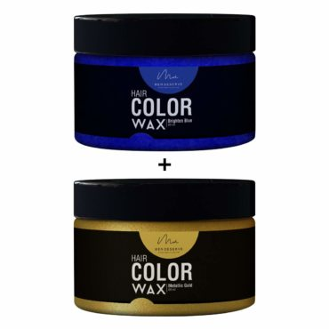 Men-Deserve-Combo-of-Hair-Color-Wax-Brighten-Blue-60ml-and-Metallic-Gold60ml