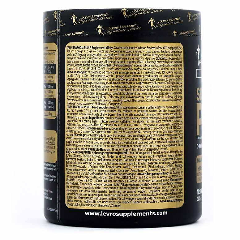 Kevin Levrone Shaaboom Pump, 385gm