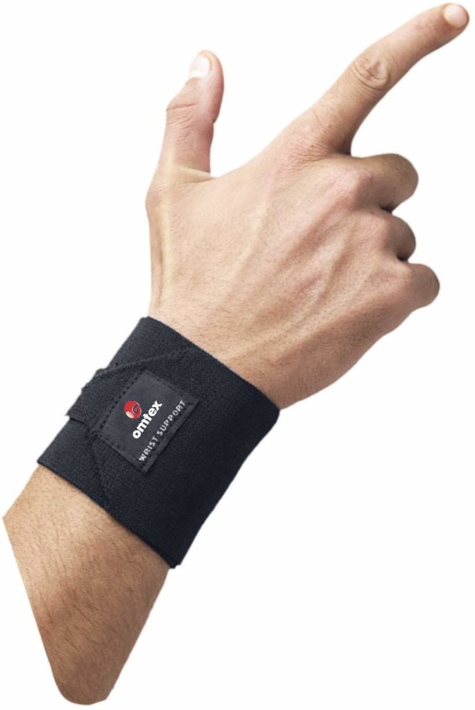 Omtex-Adjustable-Elasticized-Fabric-Wrist-Support-Mens-Free-Size-Black