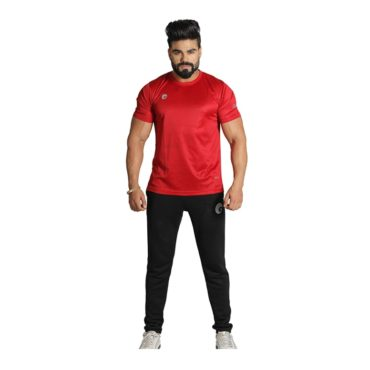 Omtex Casual Sports T Shirt (Red)