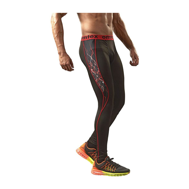 Omtex-Compression-Bottom-Shorts-Red-Shock-for-Gym-Fitness-and-Sports4