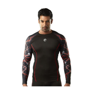 omtex-Compression-Top-Full-Sleeve-Plain-Red-for-Gym-Fitness-and-Sports3