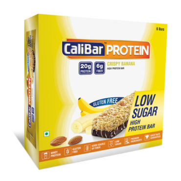 CaliBar Protein Bar Crsipy Banana Low Sugar Pack of 6