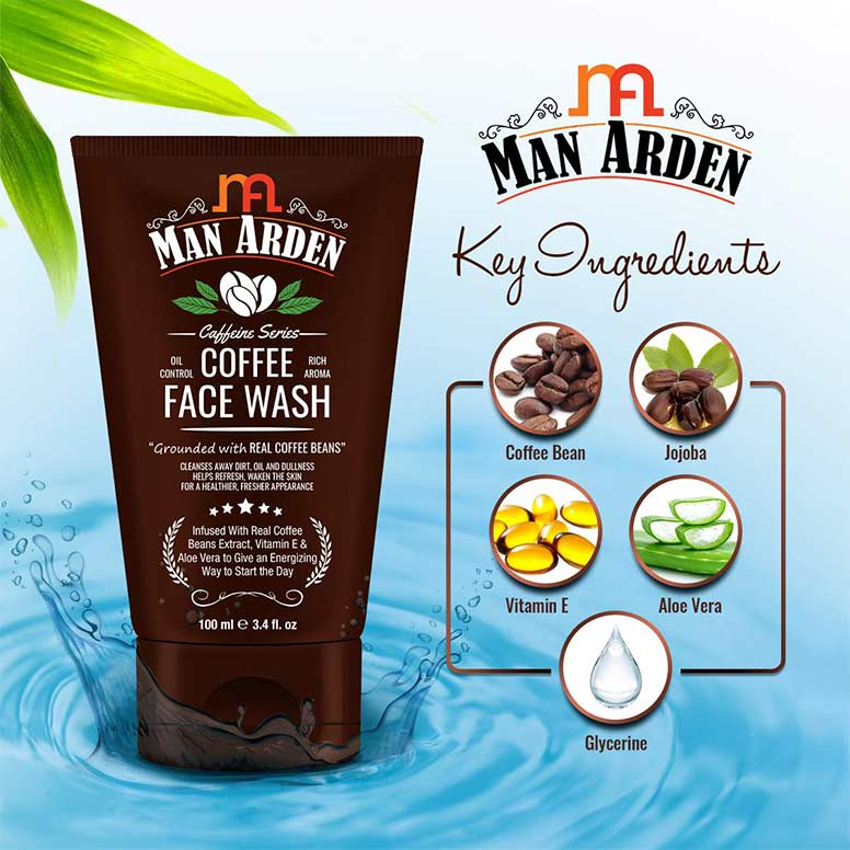 Man-Arden-Recharge-Coffee-Face-Wash-100ml---Cleanses-Away-Dirt,-Oil-and-Dullness---04
