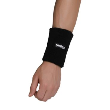 Omtex Wrist Sweat Band Black (5 Inches)