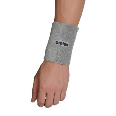 Omtex Wrist Sweat Band Grey (5 Inches)