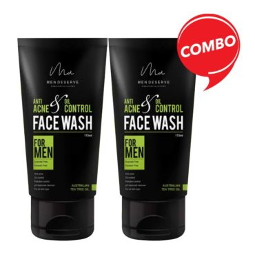 Men Deserve Anti Acne and Oil Control Face Wash with Australian Tea Tree Oil