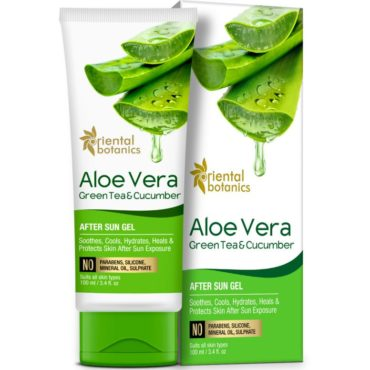 Oriental Botanics Aloe Vera Green Tea Cucumber After Sun Gel 100ml