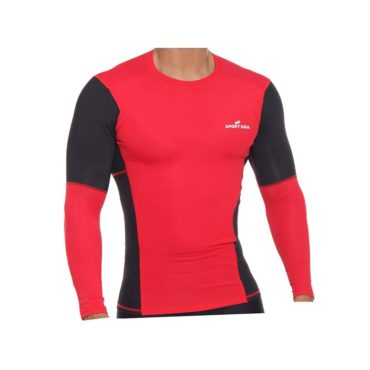 SportSoul Nylon Compression Skin Tight Full Sleeve Gym Tshirt