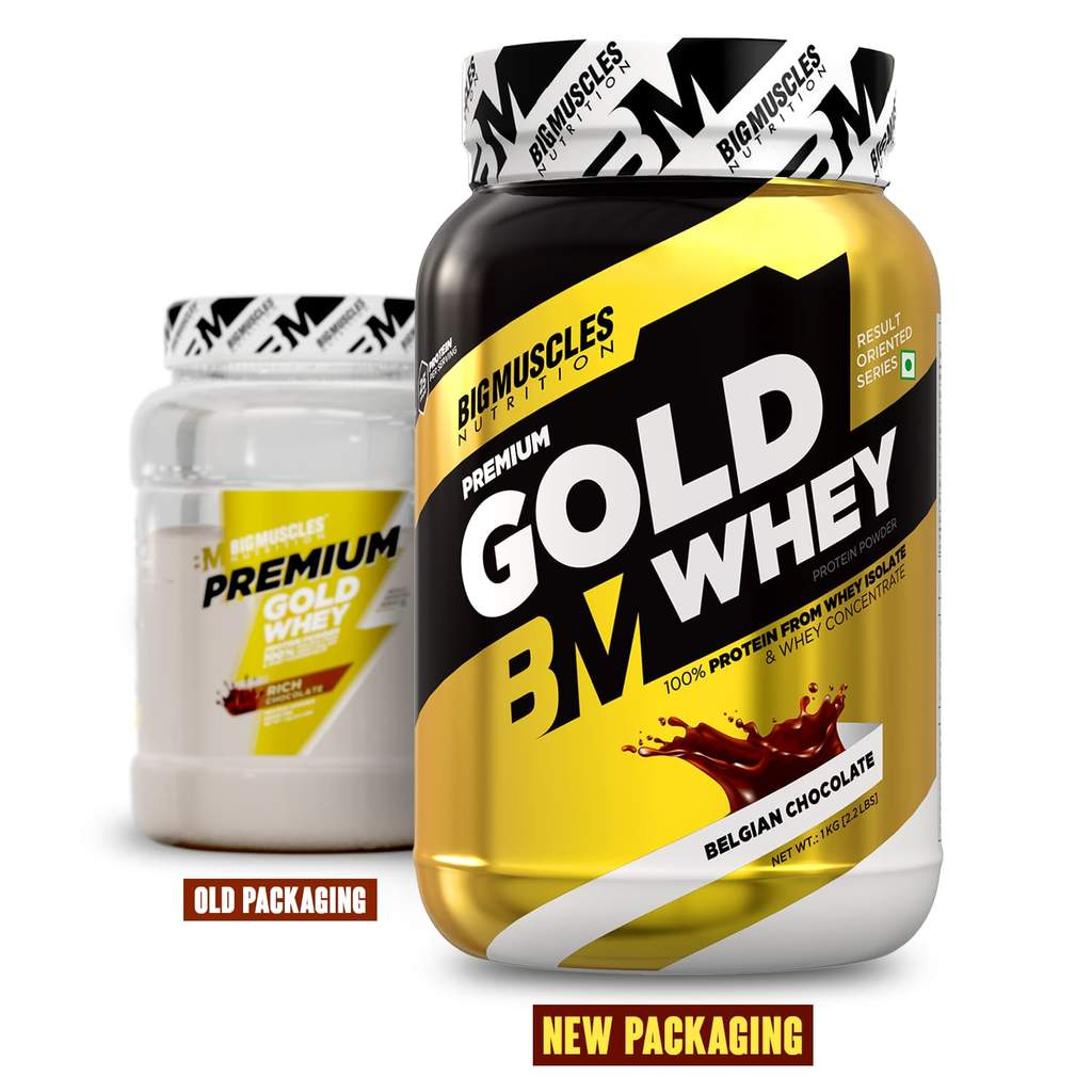 Big Muscles Nutrition Premium Gold Whey 1Kg 1