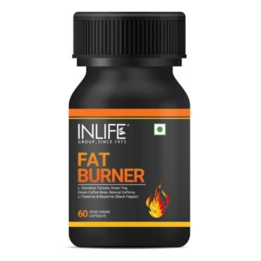 INLIFE Fat Burner with L-Carnitine, Green Tea, Green Coffee Bean, Natural Caffeine, L-Theanine, Bioperine Piperine Extract Weight Keto Supplement for Women Men - 60 Vegetarian Capsules