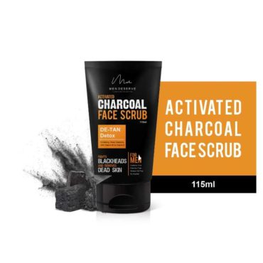 Men Deserve Activated Charcoal Face Scrub DE-TAN and Detox