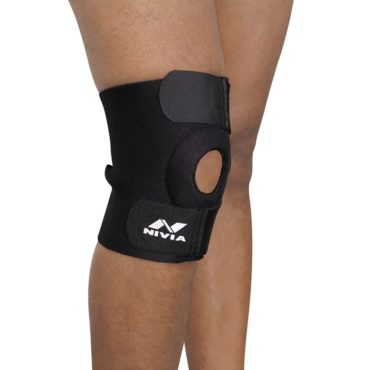 NIVIA Orthopedic Basic Knee Patela Support (Black)