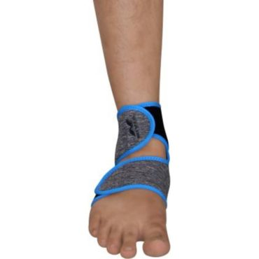 Nivia Adjustable Ankle Support (Grey, Blue)