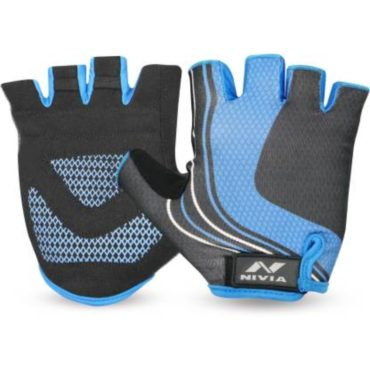 Nivia Cruise Gym & Fitness Gloves (Blue)