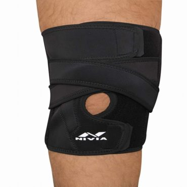 Nivia Sportho Knee Support With Open Patella (Black)