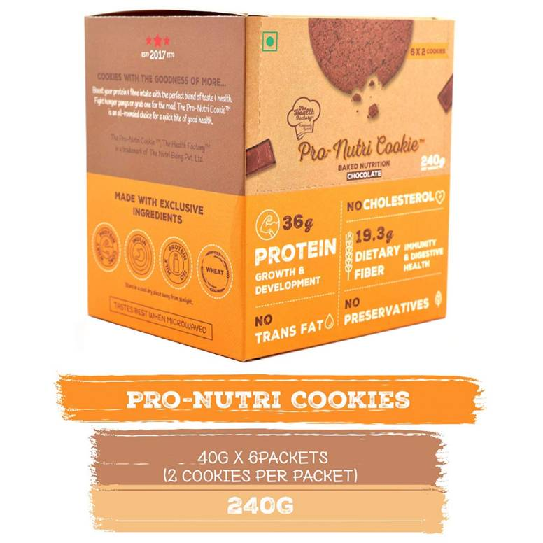 The Health Factory Pro Nutri Cookie – Chocolate