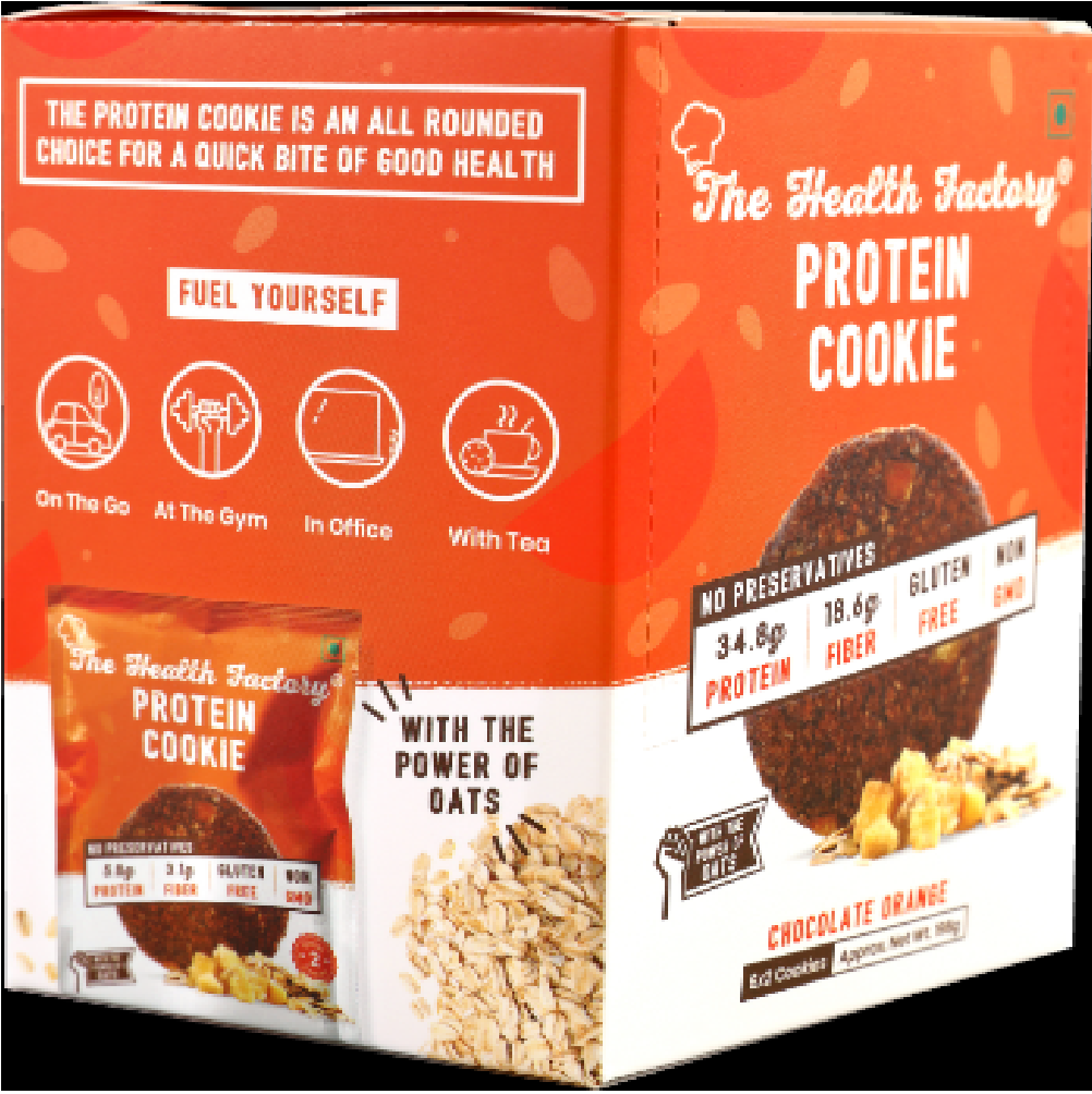 The Health Factory Protein Cookie – Chocolate Orange