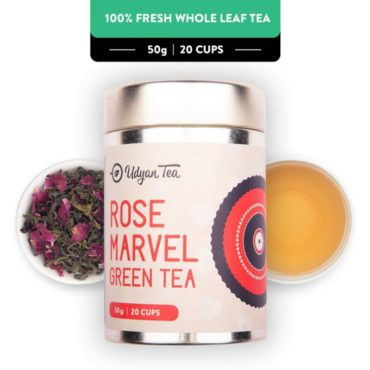 Udyan Tea Rose Marvel Green Tea – 50 gm