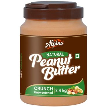 Alpino Natural Peanut Butter 2.4 KG Unsweetened crunch