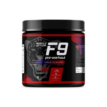Muscle Asylum F9 Pre-Workout - 50 Servings 400 gm