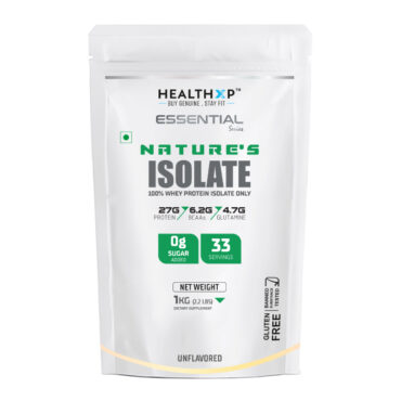 HealthXP Nature's Isolate - 2.2lb Unflavoured