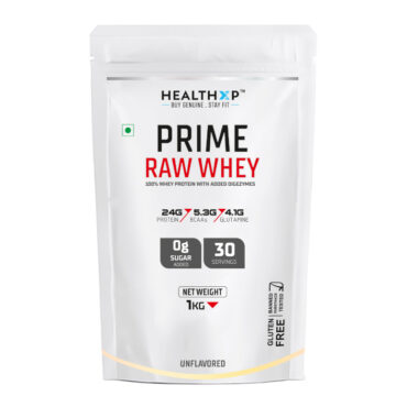 HealthXP Prime Raw Whey - 1kg Unflavoured