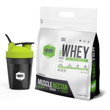 Muscle Nectar 100% Whey Protein Concentrate 1kg + Shaker 300 ml unflavour