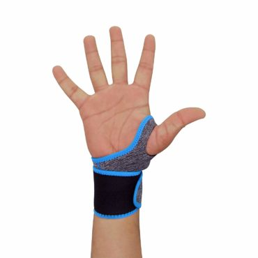 Nivia Orthopedic Wrist Band with Thumb Support (Grey, Blue)