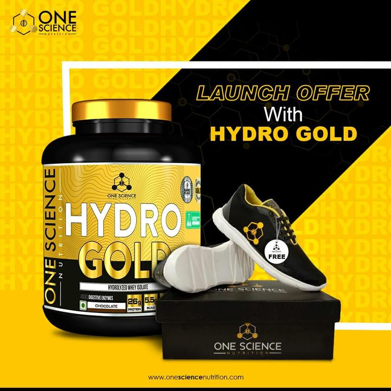 One Science Hydro Gold Hydrolyzed Whey Isolate 5lb + FREE Shoes