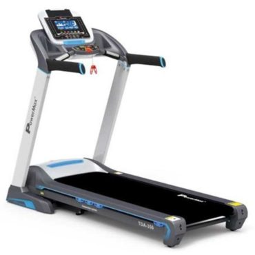 PowerMax Fitness TDA-350 3.0 HP 7inch Blue LCD Display with 400m Motorized Treadmill for Cardio Workout