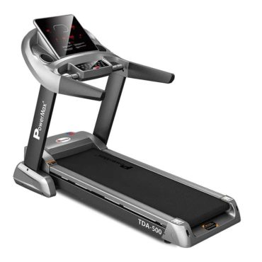 PowerMax Fitness TDA-500 4.0 HP Motorized Treadmill with 3D Smart Touch keys for Cardio Workout