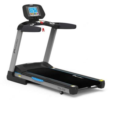 PowerMax Fitness TDA-550 (4.0 HP), 8inch TFT Screen, 400m Track UI, Motorized Treadmill for Cardio Workout