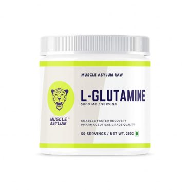 Muscle Asylum 100% Pure L-Glutamine Enables Faster Recovery- 250gm