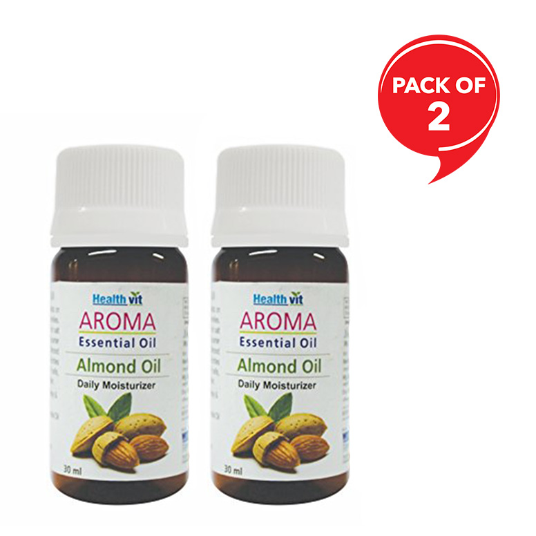 Healthvit Aroma Almond Essential Oil 30 ml Each (Pack of 2)