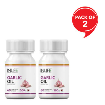 Inlife Natural Garlic Oil 500Mg 60 Capsule-(Pack of 2)