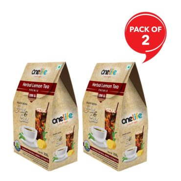 Onelife Herbal Lemon Tea 250 gm Each (Pack of 2)