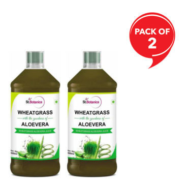 StBotanica Wheatgrass With Aloevera 500ml(Pack of 2)