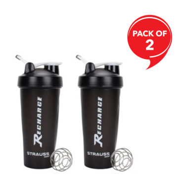 Strauss Recharge Shaker Bottle 600ml Each (Pack of 2)
