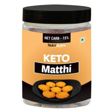 NutroActive Keto Matthi Extremely Low Carb Snacks- 175gm