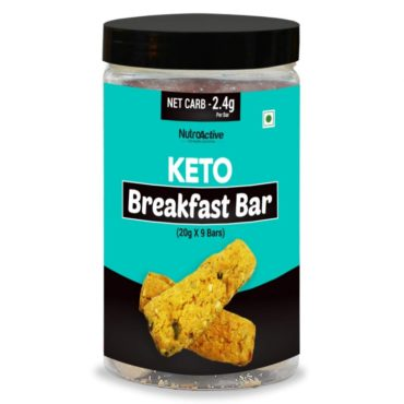 NutroActive Keto Breakfast Bar Zero Sugar Gluten Free - 9 X 20gm