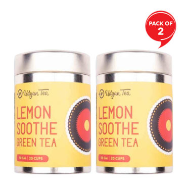 Udyan Tea Lemon Soothe Green Tea 50 gm (Pack of 2)