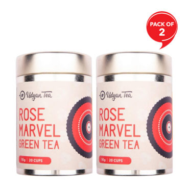 Udyan Tea Rose Marvel Green Tea 50 gm(Pack of 2)