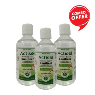 Actisol Alcohol Based Hand Sanitizer 200ml Pack of 3