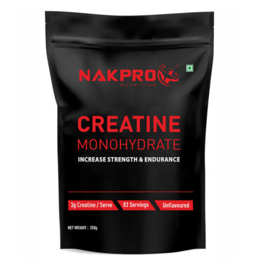 Nakpro Nutrition Advance Micronized Creatine Monohydrate Powder for Muscle Endurance & Recovery - Unflavoured - 250g (83Servings)-FRONT