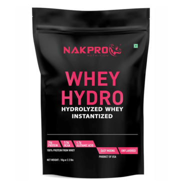 NAKPRO Nutrition Hydro Whey Protein, Raw Hydrolyzed Whey Protein - Unflavoured - 1Kg (33 Servings)