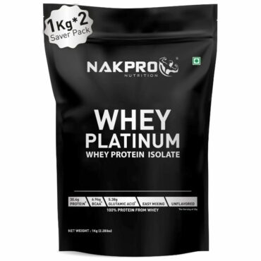 Nakpro Platinum Whey Protein Isolate 90%, Raw Whey Protein 2Kg Unflavoured